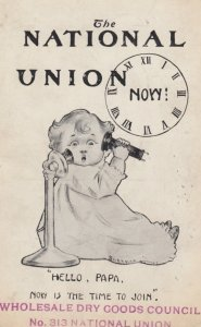 The National UNION , baby on Telephone , 00-10s