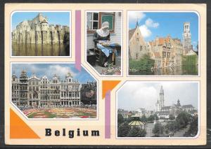 Belgium, five different views, mailed 1n 1991