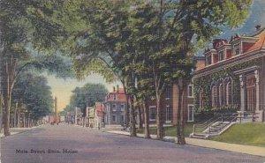 Maine Saco Main Street 1947