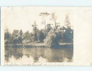 1912 rppc HOUSES AT NEMAHBIN LAKE Interlaken - Summit Wisconsin WI HM2672
