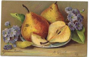 Still Life Boecker A/S Pears Embossed 1906