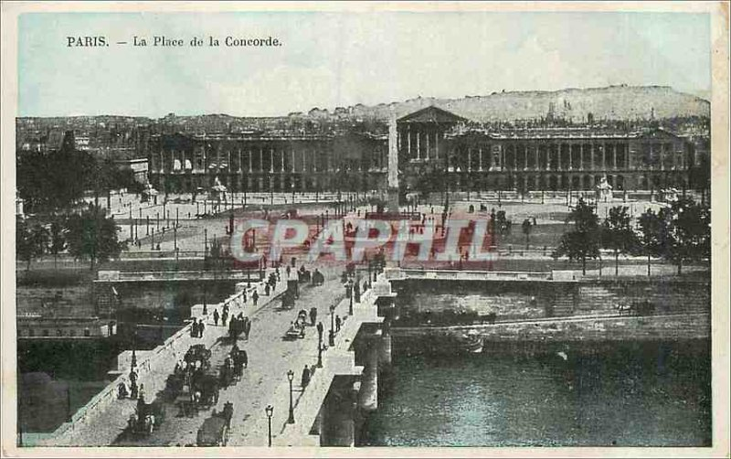 Postcard The Old Paris Concorde Square
