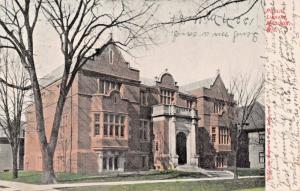 MADISON WISCONSIN~PUBLIC Library-EARLY KROPP PUBLISHED POSTCARD 1907 PSMK
