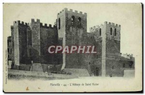 Old Postcard Marseille Abbaye Saint Victor