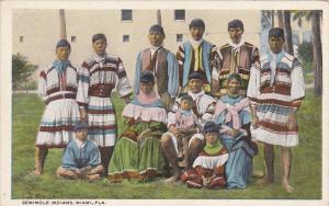 Seminole Indians In Miami Florida Curteich