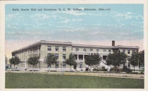 Nellie Sparks Hall and Dormitory, O. C. W. College, Chickasha, Oklahoma, 10-20s