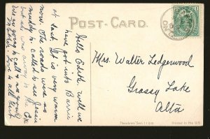 Canada Postmarked 1910 Barrie Ont Theochrom Series 1199 Color Postcard