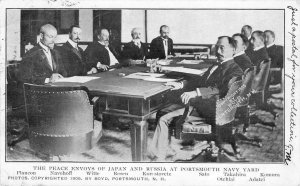 The Peace Envoys of Japan & Russia, Portsmouth Navy Yard 1905 Vintage Postcard
