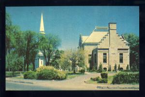 Weymouth, Massachusetts/Mass/MA Postcard, Village Green,Fogg Library, Near Mint!