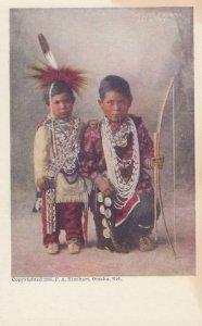 Two Little Braves , Sac & Fox , Omaha , Nebraska , 1905 ; F.A. Rinehart