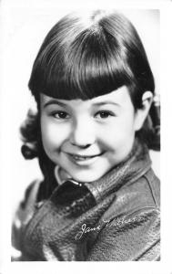 Child Actress Jane Withers Portrait~Josephine the Plumber~1930s Real Photo PC