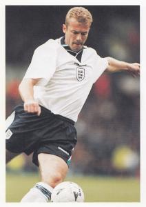 Alan Shearer English Football World Cup Striker Postcard