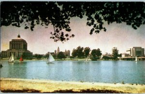 Lake Merritt Oakland California Mike Roberts Kodachrome Postcard