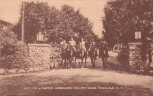 New York Wingdale Horseback Riders Off For A Canter Berkshire Country Club