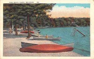 Belgrade Maine Pine Beach Camps Scenic View Vintage Postcard JA4741406