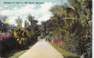 BERMUDA~ENTRANCE TO SONCY~FAIRYLANDS~PHOENIX DRUG #78 PUBL POSTCARD c1914
