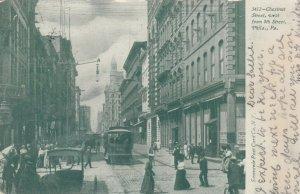 PHILADELPHIA , Pa. , 1906 ; Chestnut Street , West from 8th Street