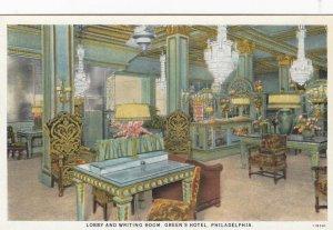 PHILADELPHIA , Pennsylvania , 1910s ; Lobby & Writing Room , Green's Hotel