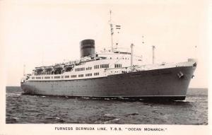 Furness Bermuda Line TSS Ocean Monarch Real Photo Antique Postcard J63906