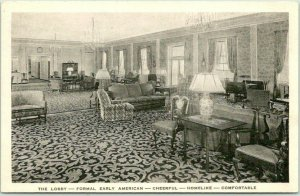 Dearborn, Michigan Postcard THE DEARBORN INN HOTEL Lobby Greenfield Village