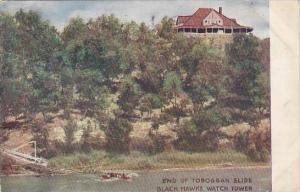 Illinois End Of Toboggan Slide Black Hawks Watch Tower 1908