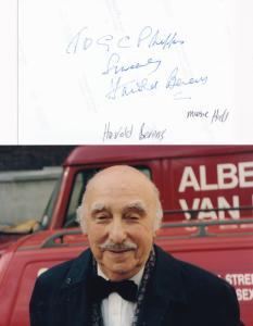 Harold Berens The Prisoner TV Show 2x Hand Signed Photo s