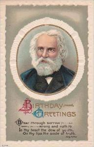 Birthday Greetings Longfellow Embossed Literature Series