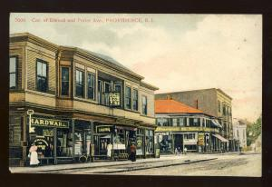 Providence, Rhode Island/RI Postcard, Corner Of Elwood & Potter Avenue
