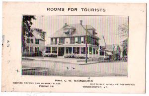 Mrs C. W. Ramsburg Tourist Home, Winchester VA