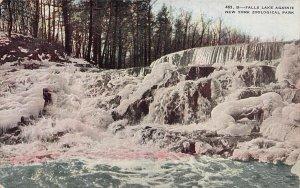 Falls Lake Agassiz, New York Zoological Park, early postcard, unused