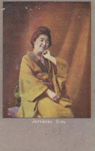 Japanese Girl Laughing Antique 1905 Postcard