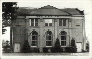 Eden NY Town Hall Real Photo Postcard c1950