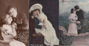My Seats Booked Travel 6 x Old Love Romance Postcards incl RPC