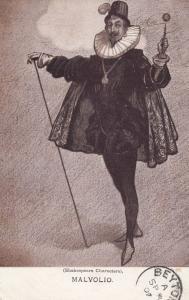 Malvolio Actor Shakespeare 1907 Antique Postcard