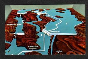 ON St Lawrence Seaway Dams CORNWALL ONTARIO Postcard