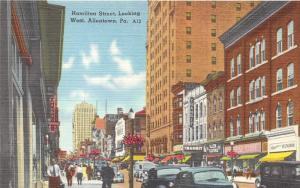 Allentown Pennsylvania~Hamilton Street W~Allen Clothes~Transit~Barber Pole~1940s