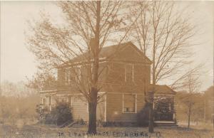 E81/ Edinburg Ohio RPPC Postcard M.E. Church Parsonage Home 5