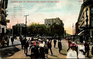 Michigan Grand Rapids Monroe and South Division Streets 1911