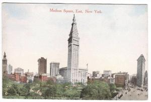 Madison Square East New York City 1910c postcard