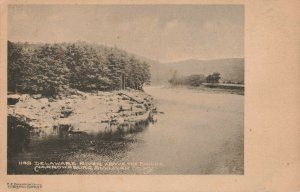 Delaware River Above The Bridge, Narrowsburgh, Sullivan County, N.Y. Postcard