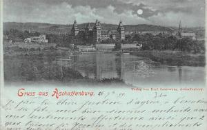 Gruss aus Aschaffenburg Gesamtansicht Castle 1899