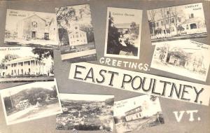 East Poultney Vermont Historic Bldg Multiview Real Photo Antique Postcard K40732