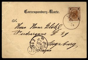 Austria 1898 Card Oberosterrich to Augsburg Bavaria