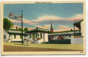 Stamm's Hotel Court Motel Hopkinsville Kentucky linen postcard