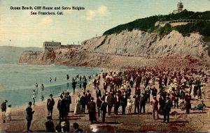 California San Francisco Ocean Beach Cliff House and Sutro Heights