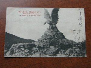 Russia Postcard Used 1904 Postmark Piatigorsk Pyatigorsk eagle mountain sculptur