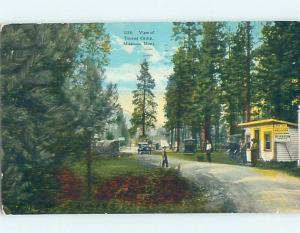 Divided-Back CABINS AT AUTO CAMPGROUND MOTEL Missoula Montana MT c3934