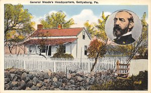 Civil War Post Cards Gen. Meade's headquarters Gettysburg, Pennsylvania,...