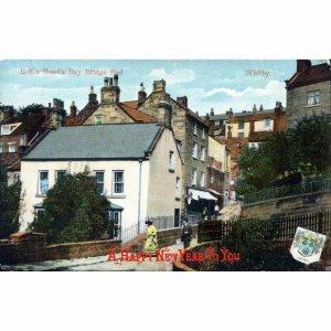 Milton 'Glazette' Christmas Greetings Postcard 'Robin Hood's Bay, Bridge Head, W