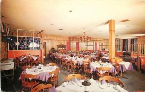 Pittsburgh Pennsylvania~Red Raven Restaurant~Interior~Holiday Inn North~1950s PC